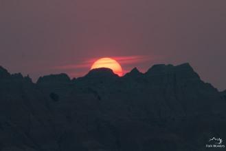 sunset Yellow Mounds overlook